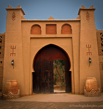 Gate-of-Kasbah-Mahayut-in-Merzouga-Morocco