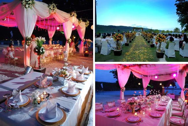 This Is An Exquisite Outdoor Set Up Under The Sky With Most Spectacular Flower Arrangements And Table Setups It Like A Fairyland Marriage Venue