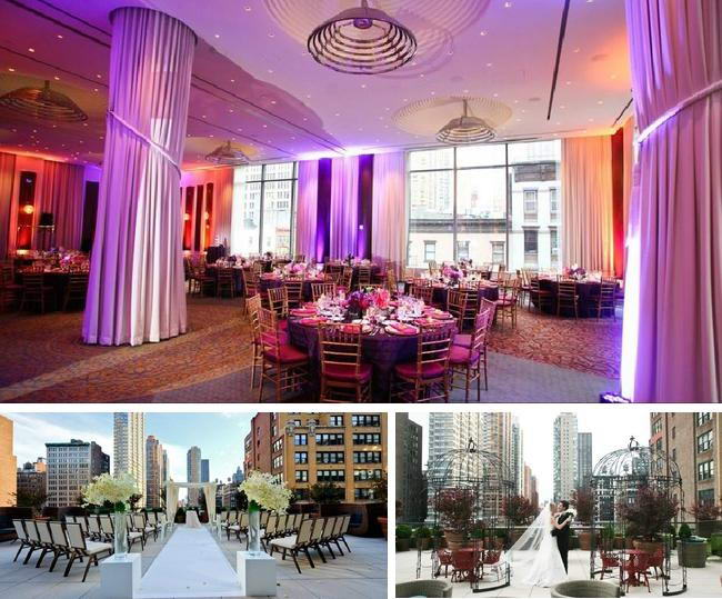 Eventi Hotel New York The Location Of His Venue Is In Middle Town Surrounded By High Buildings Centre Their Outdoor Wedding Setup